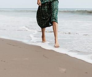 beach, ocean, and woman image