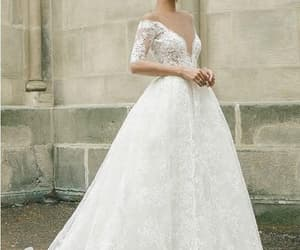 wedding dress, bridal dress, and fashion wedding dress image