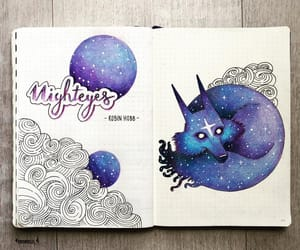 art, diary, and galaxy image