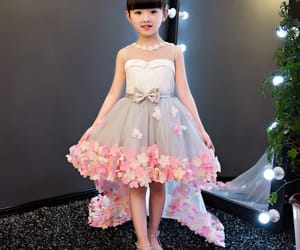 tulle dress, asymmetrical dress, and wedding party dress image