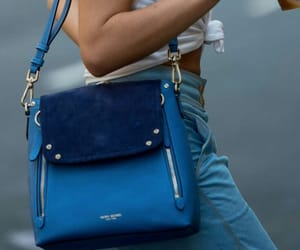 blue, bag, and fashion image