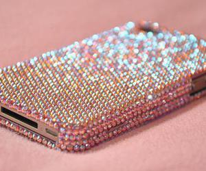 iphone, pink, and glitter image