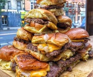 food, cheese, and burger image