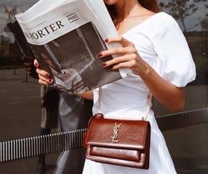 fashion, newspaper, and YSL image