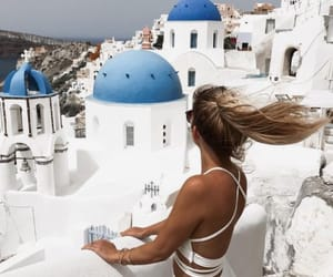 girl, Greece, and hair image