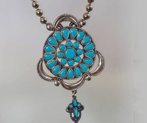 etsy, vintage necklace, and turquoise necklace image