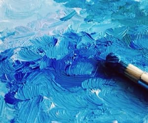 blue, paint, and art image