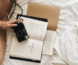 books, camera, and chill image
