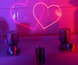 aesthetic, hearts, and neon image