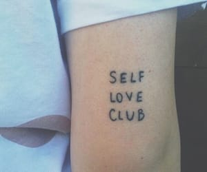 tattoo, self love, and selflove image