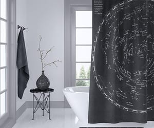 astronomy, etsy, and shower curtain image