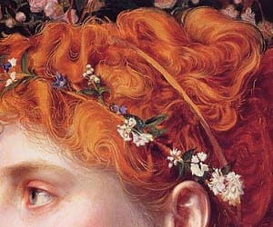 art, detail, and redhead image