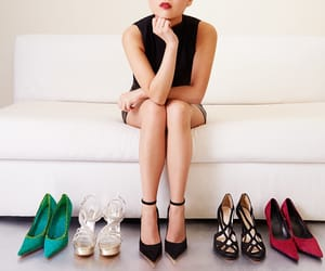ankle, fashion, and high heels image