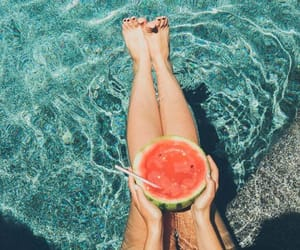 summer, watermelon, and water image