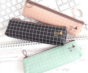 pen, pencil case, and back to school image