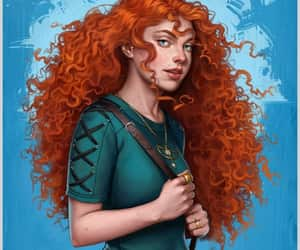 brave, disney, and real life image