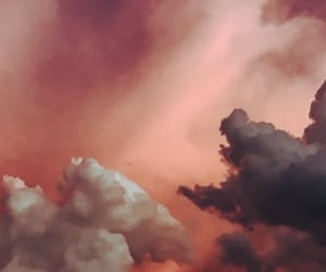 cloud, red, and sky image
