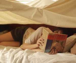book, girl, and harry potter image