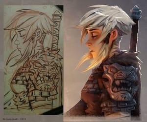 art, viking, and draw image
