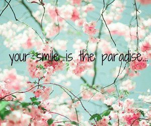 paradise, smile, and flowers image