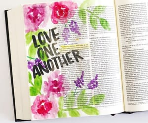 book, faith, and flowers image