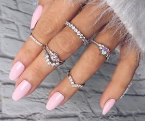 nails, pink, and rings image