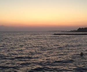 beach, cyprus, and light image