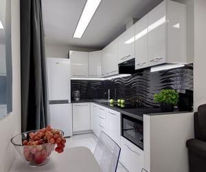black, kitchen, and luxury image