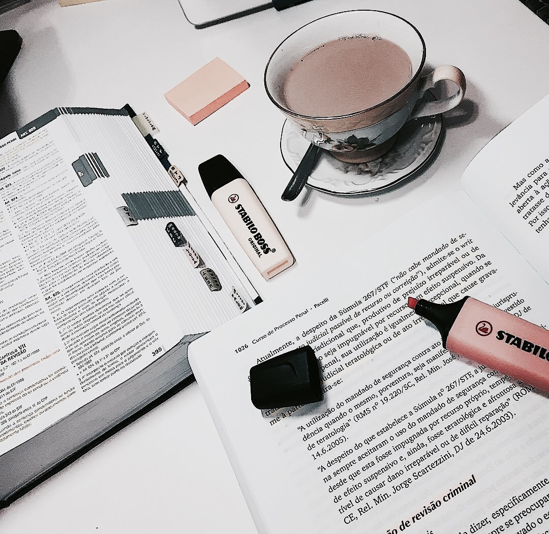 book, drink, and study image