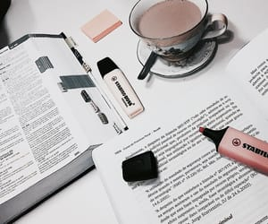 book, study, and drink image