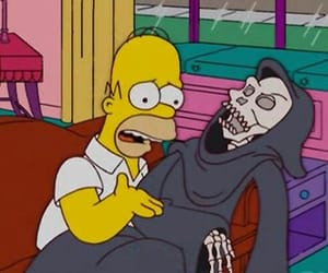 death, the simpsons, and homer image