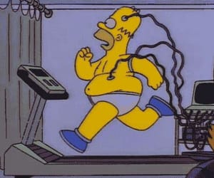 exercise, gif, and homer image