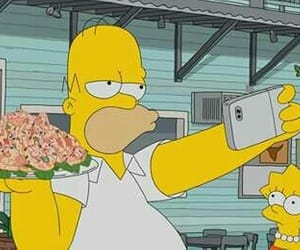 homer, the simpsons, and selfie image