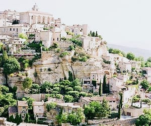 building, cliff, and france image