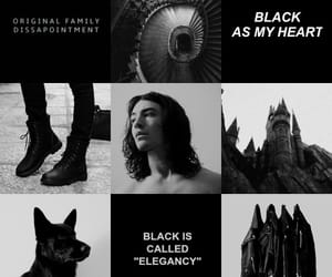aesthetic, black, and sirius black image