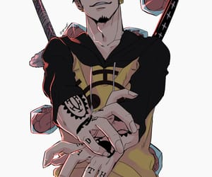 one piece, trafalgar law, and Law image