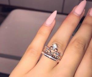 nails, ring, and rings image