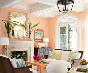 living room and peachy image