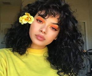 makeup, yellow, and girl image