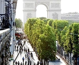 arc de triomphe, paris, and france image