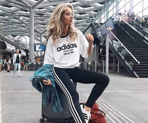 adidas, airport, and girl image