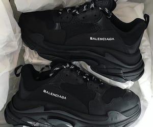 Balenciaga, black, and heels image