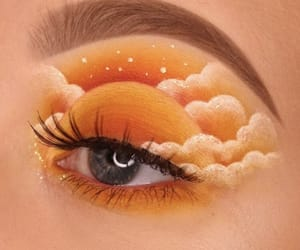 makeup, art, and orange image