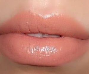 peach, lips, and theme image