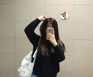 bag, mirror, and pizza image