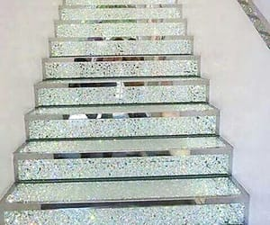 stairs, glitter, and diamond image