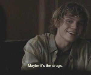 american horror story, drugs, and evan peters image