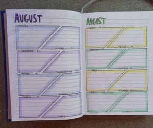 August, bullet journal, and bullet journal ideas image