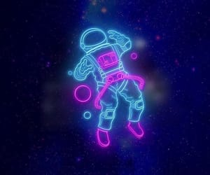 space, neon, and background image