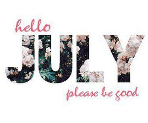 july, summer, and text image
